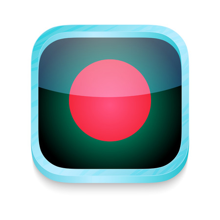 Smart phone button with Bangladesh flag Stock Vector - 22198108