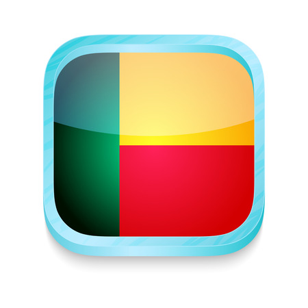 Smart phone button with Benin flag