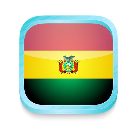 bandera de bolivia: Bot�n del tel�fono inteligente con la bandera de Bolivia