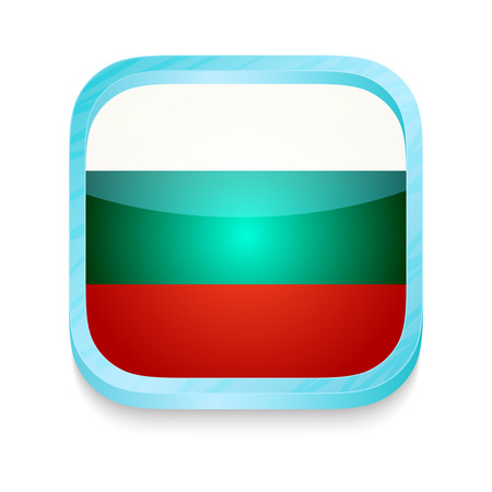 Smart phone button with Bulgaria flag Vector