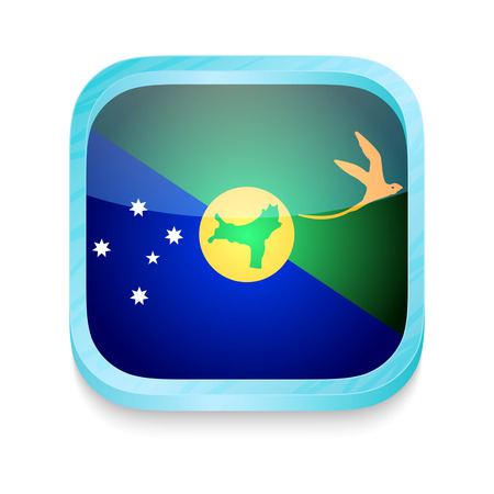Smart phone button with Christmas Islands flag Vector