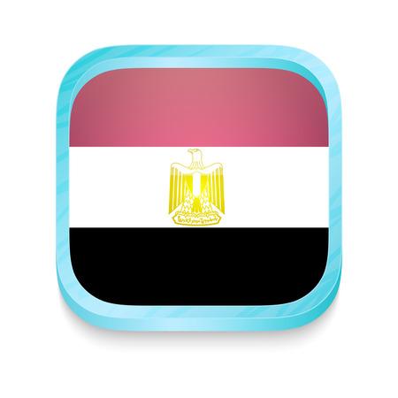 bandera de egipto: Botón del teléfono inteligente con la bandera de Egipto