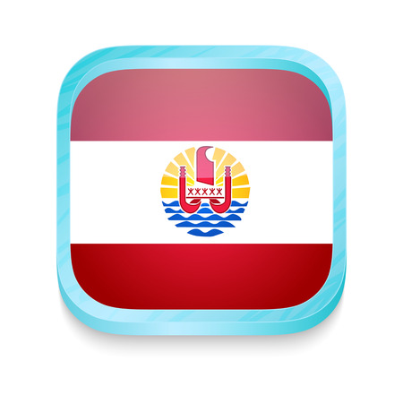 Pulsante Smart phone con bandiera Polinesia francese