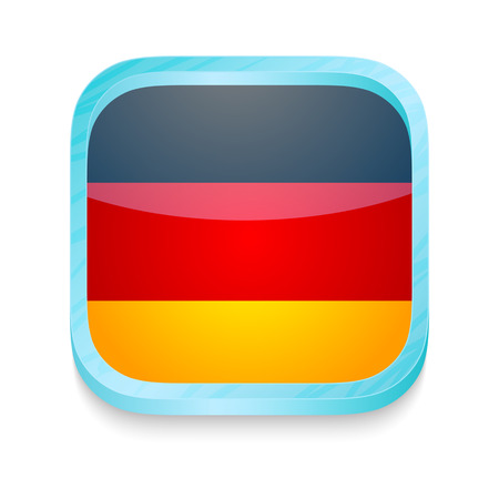 Smart phone button with Germany flag Vector