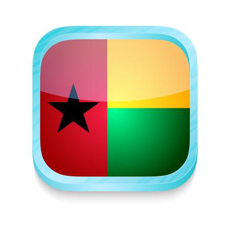 bissau: Smart phone button with Guineea Bissau flag Illustration