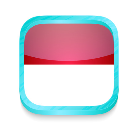 Smart phone button with Indonesia flag Vector