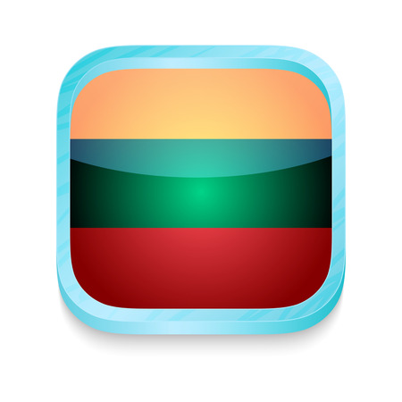 lithuania flag: Smart phone button with Lithuania flag