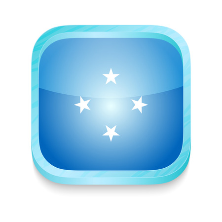 Smart phone button with Micronesia flag Stock Vector - 22198233