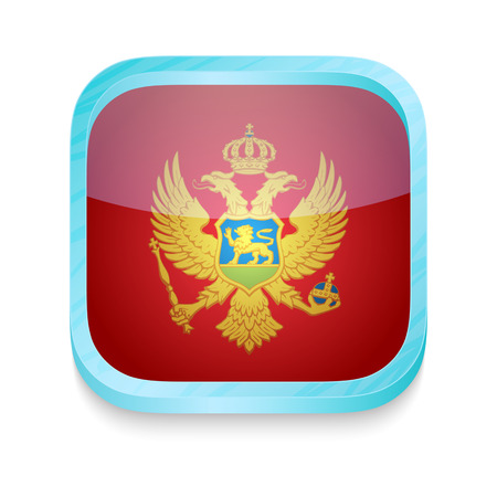 Smart phone button with Montenegro flag Illustration