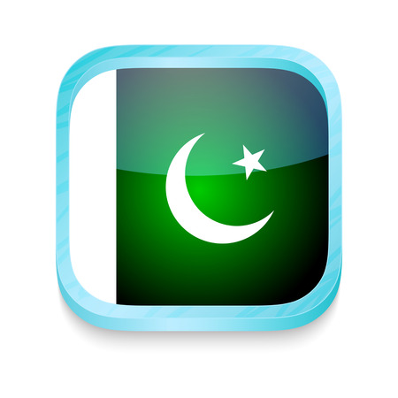 Smart phone button with Pakistan flag Vector