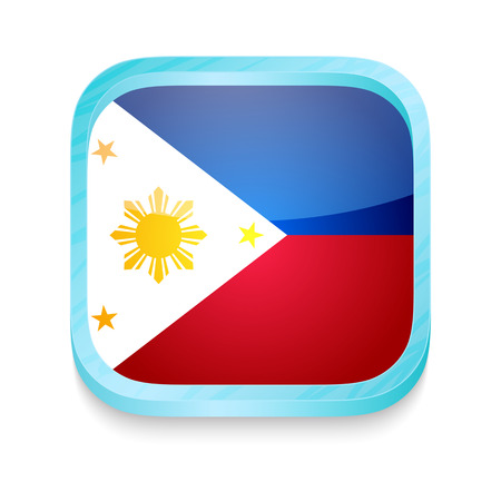 Smart phone button with Philipines flag Vector