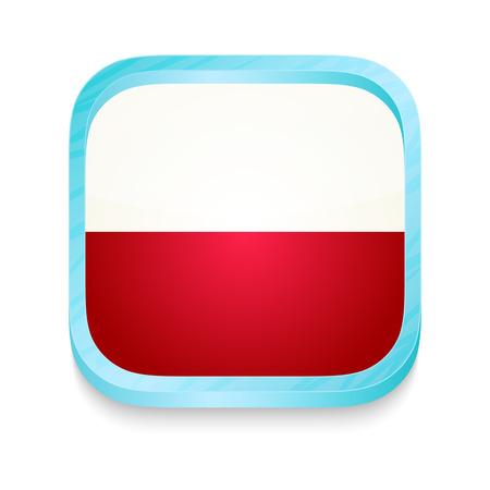 Smart phone button with Poland flag Vector