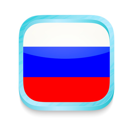 Smart phone button with Russia flag Stock Vector - 22198347