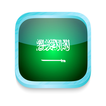 Smart phone button with Saudi Arabia flag Vector
