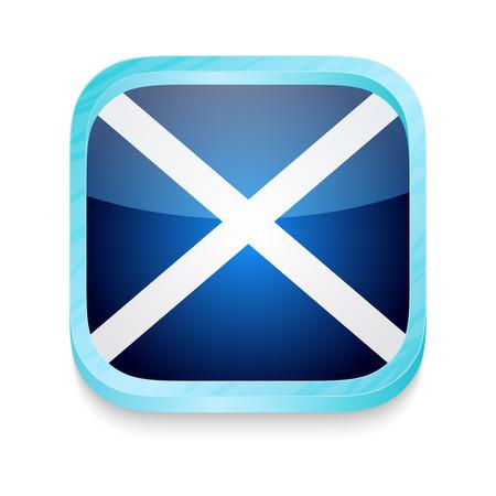 Smart phone button with Scotland flag Stock Vector - 22198355