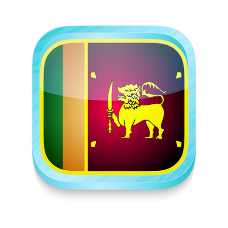 Smart phone button with Sri Lanka flag Vector