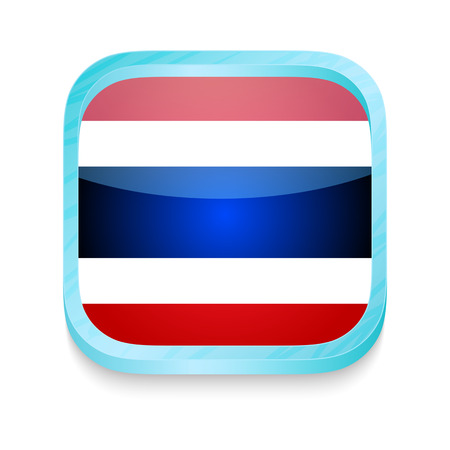 Smart phone button with Thailand flag Vector