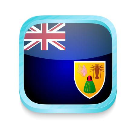 turks: Bot�n del tel�fono inteligente con Turcas y Caicos bandera