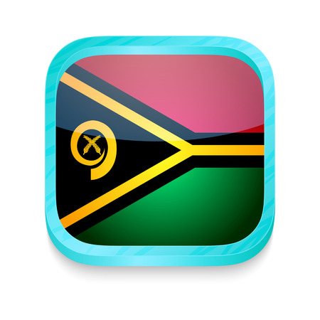 Smart phone button with Vanuatu flag Stock Vector - 22198426