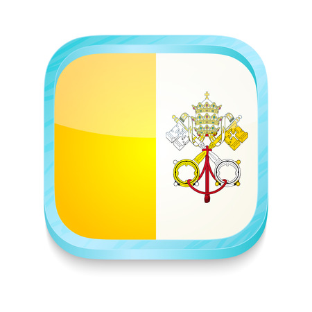 Smart phone button with Vatican flag Vector