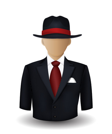 Mobster avatar Vector