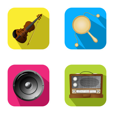 drum set: Music and party icon set 2  Illustration