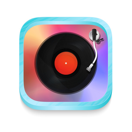 Vintage record player icon illustration Stock Vector - 22527449