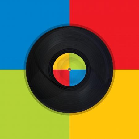 disc jockey: Pop Art with vintage record