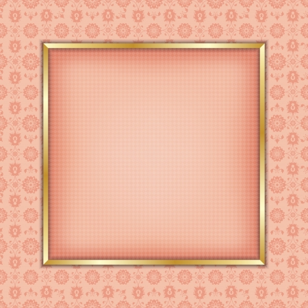 sateen: Decorative gold  frame for text or photography