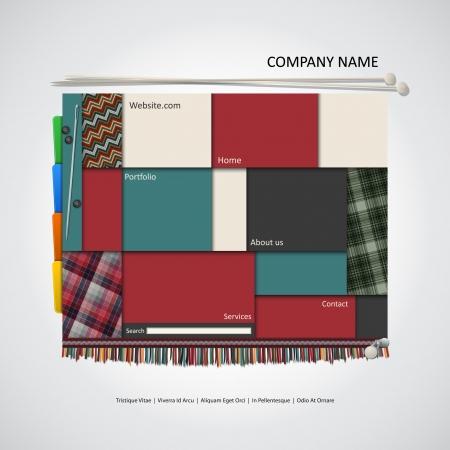 Modern website template, fashion design Stock Vector - 22527472