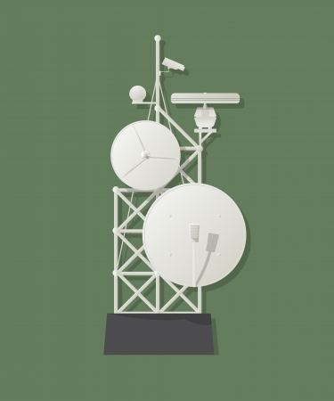 Media tower graphic Vector