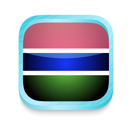 Smart phone button with Gambia flag Stock Vector - 23356556