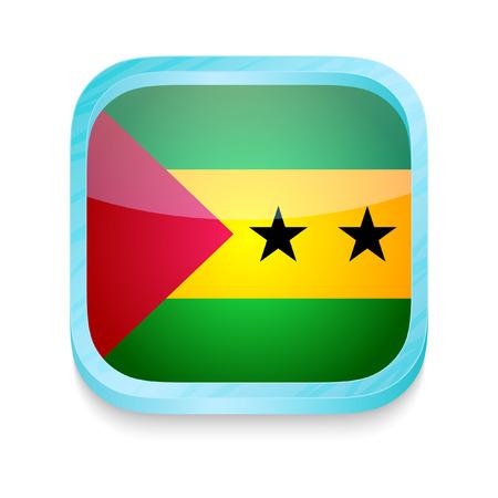 principe: Bot�n del tel�fono inteligente con Sao Tome & Principe bandera