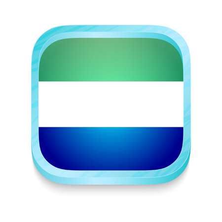 Smart phone button with Sierra Leone flag Vector