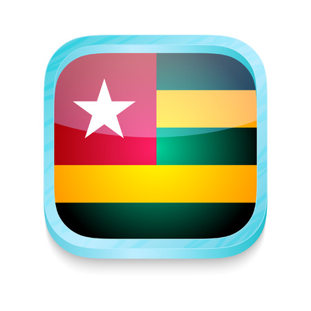 togo: Smart phone button with Togo flag