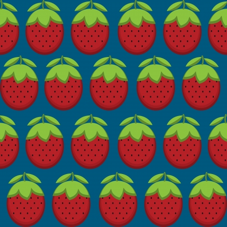 strawberry plant: Retro style seamless pattern with Strawberries Illustration