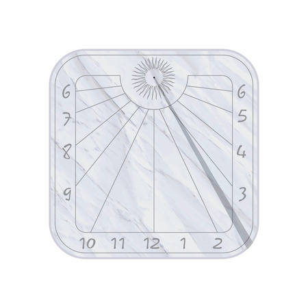 cadran solaire: Ic�ne cadran solaire sur fond blanc