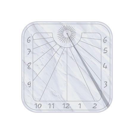 reloj de sol: Icono de reloj de sol sobre fondo blanco