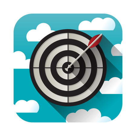 target practice: Target practice application icon over white background
