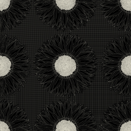 Grunge sunflower pattern Vector