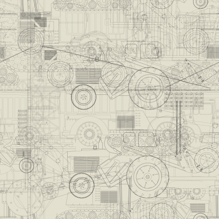 'earth mover': Seamless pattern design with industrial vehicles