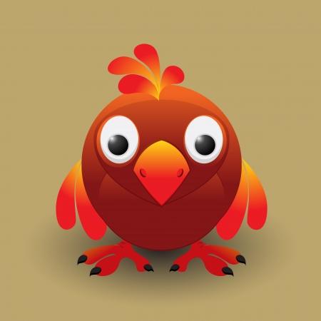 Cute cartoon baby bird Vector
