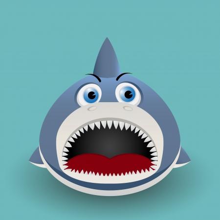 Cute cartoon baby shark Vector