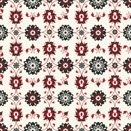 Seamless damask pattern design, abstract art Vector