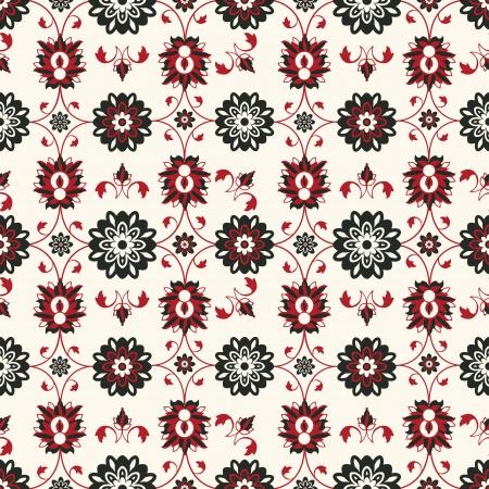 Seamless damask pattern design, abstract art Illustration