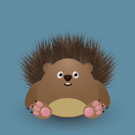 Cute cartoon baby hedgehog Vector