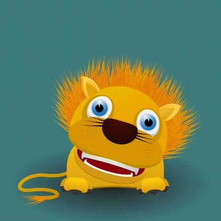 lion baby: Bambino sveglio del fumetto del leone Vettoriali