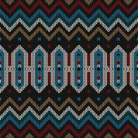 Ornamental Volks gestrickt Textil-, nahtlose Muster. Standard-Bild - 24560029
