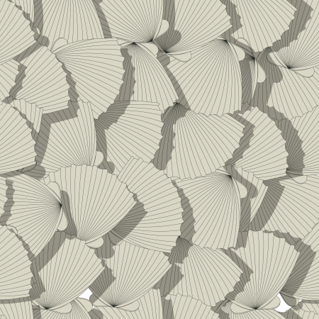 Sea shells seamless pattern, cartoon art