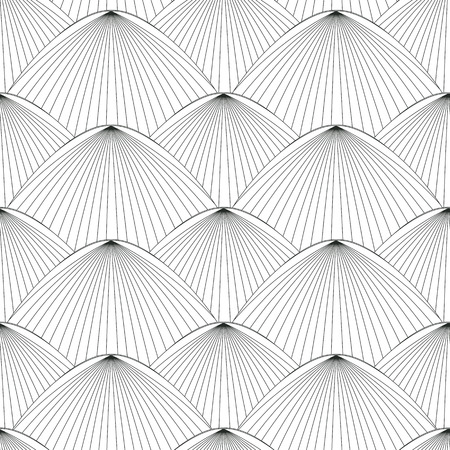 fantail: Seamless oriental style patternin black and white Illustration